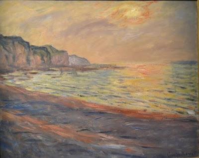 17a La spiaggia di Pourville. Sole al tramonto, 1882