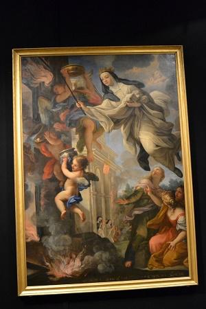 Giuseppe Bartolomeo Chiari, Miracolo della Beata Mafalda del Portogallo, 1710-25, Roma
