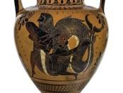 Anfora attica con Eracle e Tritone