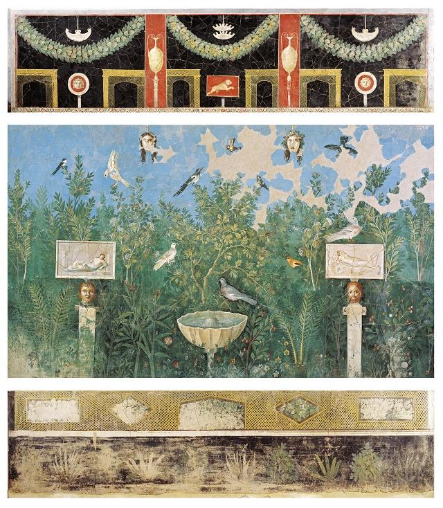 Immagine n.8 affresco che riproduce un lussureggiante giardino
