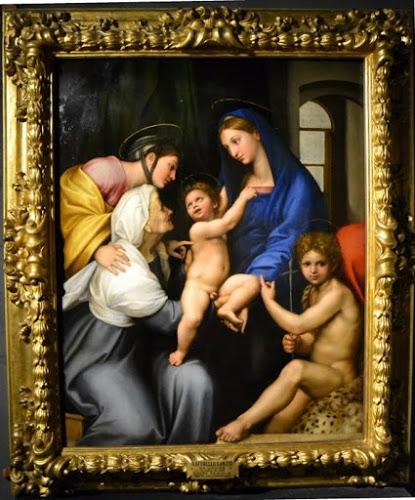1 Raffaello e aiuti, Madonna dell'Impannata, 1511, Firenze, Uffizi